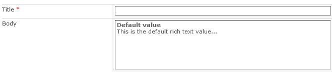 defaultRichValue