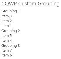 CQWP Custom Grouping