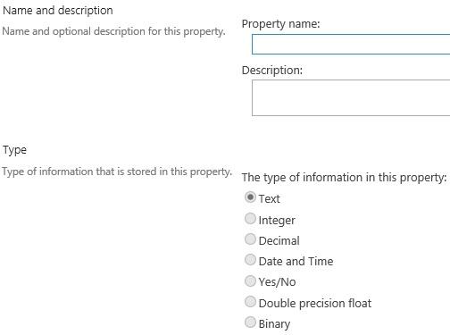 Managed Property name