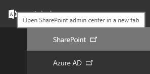 Open SharePoint admin